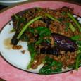 茄子とひき肉の炒め