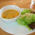 根菜スープ と サラダ
